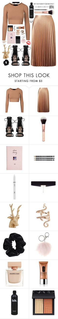 """singing as they jingle, jingle, jingle tonight"" by heyhayhayxx ❤ liked on Polyvore featuring Miss Selfridge, Zimmermann, ASOS, NYX, 8 Other Reasons, Eliot Raffít, Elise Dray, American Apparel, Mixit and Narciso Rodriguez"