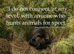 sport / enjoyment / fun / excitement .... in killing and watching a helpless animal die ....how can this be?