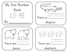 Kindergarten Zoo Math Activities and Centers Common Core Aligned