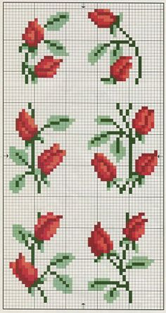 cross stitch - rose borders