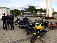 distinguished gentlemans ride, stavanger 2015. maiden voyage of the MFP bike after rebuild.