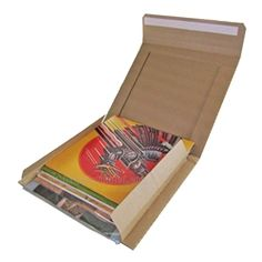 """""""MIGHTY MUSIC MAILER"""" for 12"""" Records. Mails 5 or 6 LP records in jackets. Peel & seal closure; Pull strip opener."""