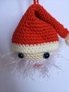 Annoo's Crochet World: Ho Ho Ho ,Santa Ornament Free Pattern