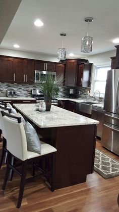 Best Black Kitchen Cabinets With White Granite Dream Home 400 x 300