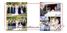 Wedding album design of summer wedding @westhillscountryclubny #hudsonvalleywedding by www.roseschallerphoto.com