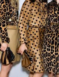 animal prints #Burberry 2014 Blouse on the left with camel skirt, is killer.