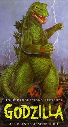 Toys in the Attic ...The Aurora 13  'Godzilla' #9 Original Kit Issued: 1964 - 1968 Re-Issued: 1969-75, 1978, 2000