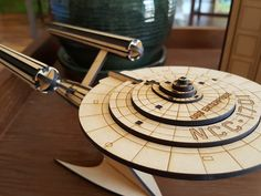 Wow, check out this super cool laser cut model of the USS Enterprise! https://www.thingiverse.com/thing:1902315 Nice work Joe! #Talentedtusday #APLazer