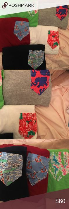 Lilly Pulitzer Frockets Long Sleeve Bundle All long sleeve fruit of the loom in great condition. This is a super great deal if you get them on Etsy they're around $30 a piece :) make an offer they NEED to go!!!!!!!! Lilly Pulitzer Tops Tees - Long Sleeve