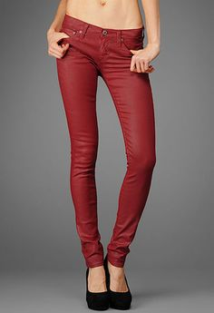 The Legging - Leatherette Red