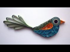 Quilled bird - Oiseau quilling - YouTube