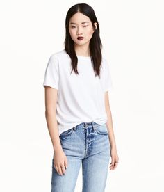 Check this out! T-shirt in cotton-blend jersey. - Visit hm.com to see more.