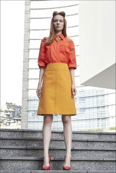 Mila Schön Resort2016 #Look7 Waist Skirt, High Waisted Skirt, Leather Skirt, Vogue, Skirts, Style, Fashion, Nice Asses, Moda