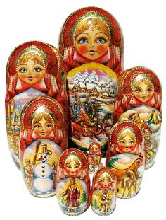 "Matryona Nesting Dolls (10-piece set) 11""H"