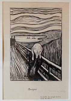 Edvard Munch (1863-1944) The Scream / Geschrei / Skriket/, etching, The Thiel Gallery / Thielska Galleriet, Stockholm