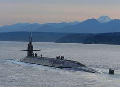 The ballistic-missile submarine USS Henry M. Jackson (SSBN 730) arrives home at Naval Base Kitsap-Bangor following a strategic deterrent patrol.