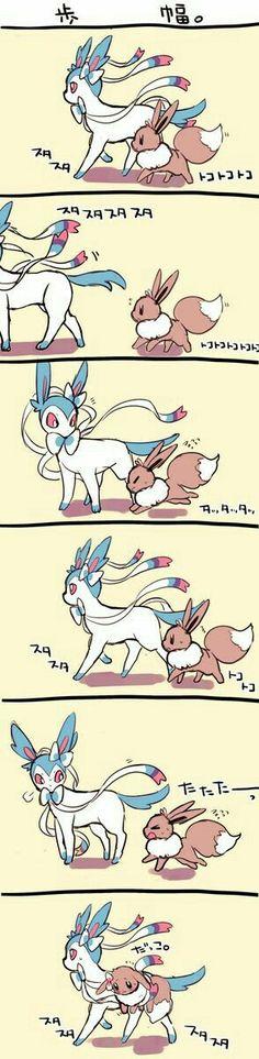Shiny Sylveon, Eevee, cute, text, funny, comic; Pokémon