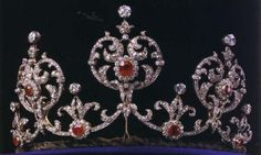 Connaught Ruby Tiara: A wedding gift from Princess Margaret of Connaught's uncle & aunt, King Edward VII & Queen Alexandra of the UK. This tiara was inherited by Prince Sigvard, Margaret's 2nd son, who sold the tiara to his father, King Gustaf VI Adolf. The king left the tiara to Sigvard's son, Michael, but Michael sold it to the new king, Carl XVI Gustaf. Sigvard lived until 2002. Queen Silvia began wearing it in public after his death.