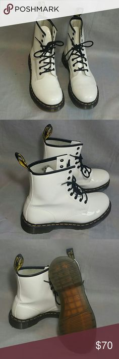 Dr. Martin's Boots Shoes White Size 9 Lace-ups Item just used few times, is in a good condition, NO PETS AND SMOKE FREE. Dr. Martens Shoes Combat & Moto Boots