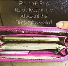 Perfect iPhone 6 plus or an Samsung s6 edge wallet. all about the Benjamins jewell by thirty one wallet.