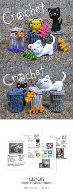 Amigurumi alley cats crochet pattern