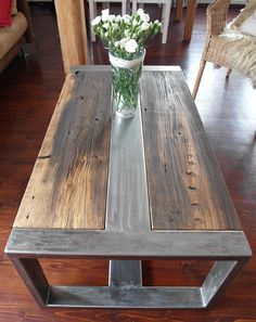coffee table industrial vintage old wood