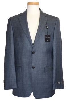 Ralph Lauren Mens Sport Coat Jacket Slim Fit Blazer Silk Wool Blue 50R NEW $400 #RalphLauren #TwoButton