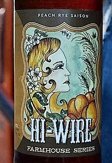 Hi-WIRE, Peach Rye Saison, Asheville, NC
