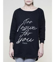 Too Vogue For You Sweater #foyparis #fameonyouparis #women #sweat  #paris #black