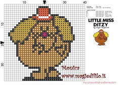 Little Miss Ditzy (Mr.Men) cross stitch pattern