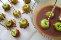 Salted Caramel Apples Caramel Apples, Catering, Cherry, Menu, Fruit, Cooking, Desserts, Recipes, Kochen