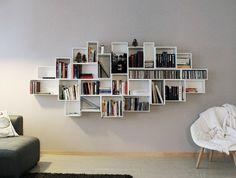 Étagère à CD et livres blanche