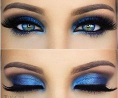 Eye Makeup Tips.Smokey Eye Makeup Tips - For a Catchy and Impressive Look Blue Makeup, Prom Makeup, Skin Makeup, Wedding Makeup, Masquerade Makeup, Dress Makeup, Pretty Makeup, Makeup Goals, Makeup Inspo