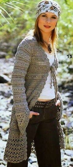 CROCHET-BY-JANE: MORE LONG COATS - MAIS CASACOS LONGOS