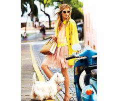 spring/summer goto skirt, shades, coat- puppy and vespa included
