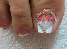 Manicure And Pedicure, Nail Art, Nails, Feet Nails, Designed Nails, Work Nails, Pretty Toe Nails, Simple Toe Nails, Finger Nails
