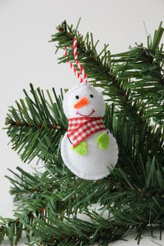 Snowman Christmas decoration Christmas tree by PastimeArt on Etsy