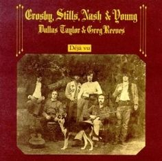 April 1970 - Crosby Stills Nash & Young went to on the US album chart with Deja Vu. The first album which saw Neil Young joining Crosby, Stills and Nash featured three US Top 40 singles: 'Teach Your Children', 'Our House' and 'Woodstock' Rock Album Covers, Classic Album Covers, Music Album Covers, Jimi Hendrix, The Velvet Underground, Lps, Creedence Clearwater Revival, Beatles Abbey Road, The Beatles