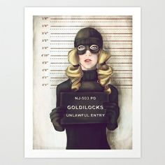 Goldilocks Art Print by adroverart - $38.00\ Someone buy this for me!!!  I do wish it was a numbered signed print.