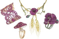 Yes Please: Chopard Red Carpet Collection jewelry, prices upon request; us.chopard.com. Especially the mushroom ring.