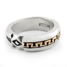 Handmade Native American wedding band by artist, Jennifer Curtis