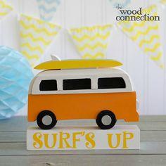 Surfs Up Wooden Bus