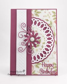 Handmade Card : This card has been made using Vintage Rose Garden from Creative Crafting World