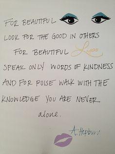 Favorite Audrey Hepburn quote print!