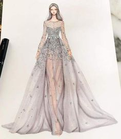 42 Ideas Fashion Sketches Illustrators Beautiful For 2019 Source by dress sketches Fashion Drawing Dresses, Fashion Illustration Dresses, Fashion Dresses, Fashion Illustrations, Fashion Design Drawings, Fashion Sketches, Moda Fashion, Fashion Art, Trendy Fashion