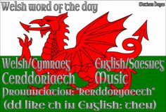 Welsh word of the day: Cerddoriaeth/Music