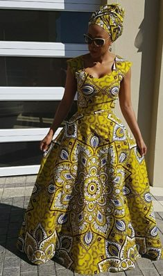 2019 October African Outfits, African Dresses For Women, African Print Dresses, African Attire, African Wear, African Fashion Dresses, African Traditional Wear, Traditional Dresses Designs, African American Fashion
