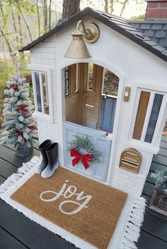 "DIY Holiday Playhouse Makeover with Interactive Features Woo-hoo! I can add ""House Flipper"" to my resume now. Does it matter that it was a playhouse? Yes, it probably does, but I'm still claiming it, haha. Either way, I flipped my very …"
