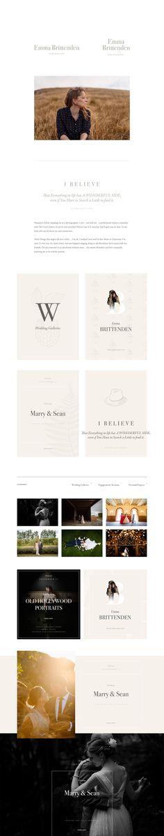 Brand Identity with Illustration work for Emma Brittenden Photography #illustration #design #typography #brandidentity #branding #photography