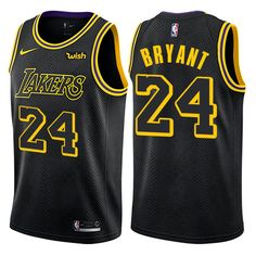 2964f2372 Nike Lakers  24 Kobe Bryant Black Women s NBA Swingman City Edition Jersey  James Basketball